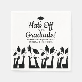 Hats off to the Graduate Photo Graduation Party Paper Napkin