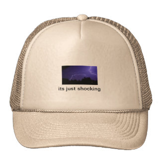hats wit lightning on it