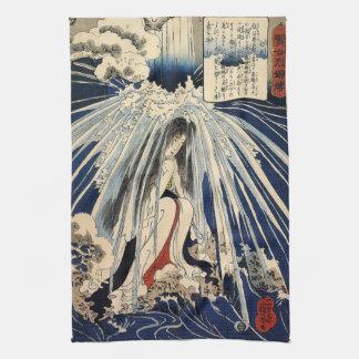 Hatsuhana Doing Penance by Utagawa Kuniyoshi Kitchen Towel