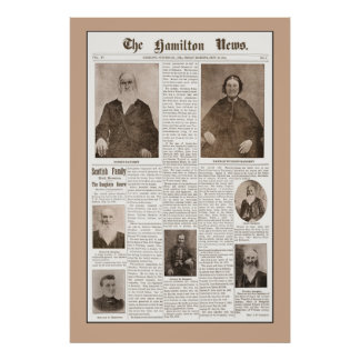 Haughey Family Reunion -Sept 16, 1904- Brown Poster