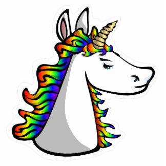 Haughty Unicorn Pin Photo Sculpture Button