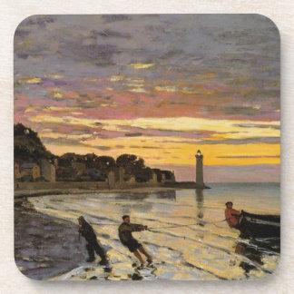 Hauling a Boat Ashore, Honfleur Beverage Coaster