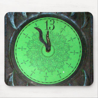 Haunted 13th Hour Clock Mousepad
