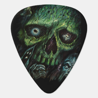 Haunted Attraction Skulls Ghosts Vintage Guitar Pick