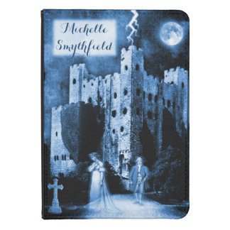 Haunted Blue Castle Gothic Personalized Kindle Touch Case
