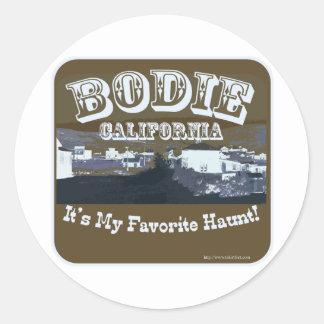 Haunted Bodie California Classic Round Sticker