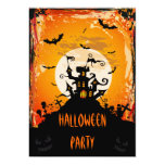 "Haunted Castle Halloween Party 5"" X 7"" Invitation Card"