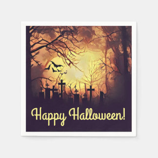 Haunted Cemetery Cocktail Napkins Paper Napkin