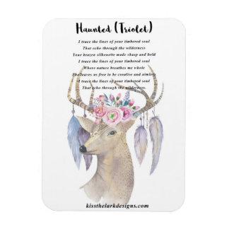 Haunted - Deer - Rectangular Photo Magnet