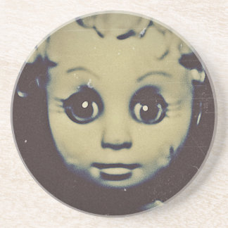 haunted doll products beverage coasters