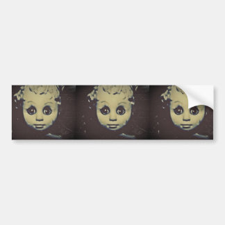 haunted doll products bumper sticker
