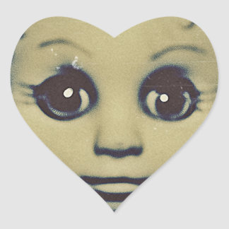 haunted doll products heart sticker