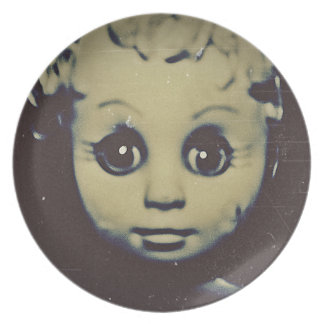 haunted doll products party plates