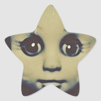 haunted doll products star sticker