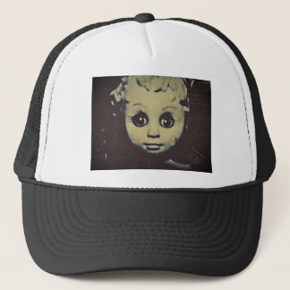 haunted doll products trucker hat