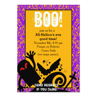 """Haunted Ghost dead body halloween Party 5"""" X 7"""" Invitation Card"""