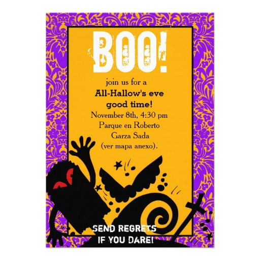 Haunted Ghost dead body halloween Party Personalized Invite