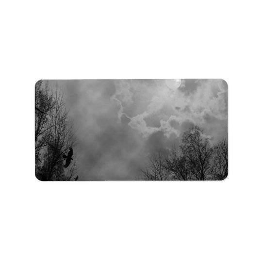 Haunted Gothic Sky Address Labels