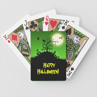 Haunted Grave Yard Halloween Bicycle Playing Cards