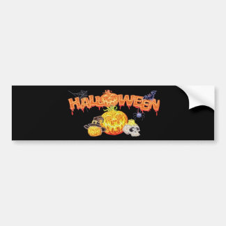 Haunted Halloween Bumper Sticker