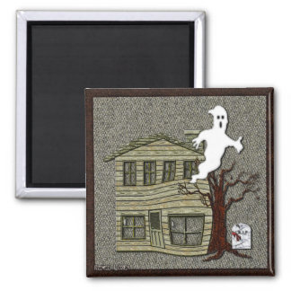 Haunted Halloween Cartoon Magnet