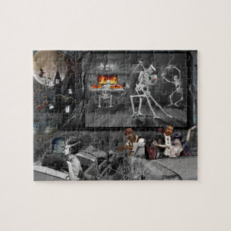 Haunted Halloween Drive-in Jigsaw Puzzle