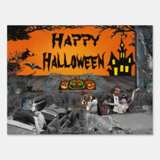 Haunted Halloween Drive-in Sign