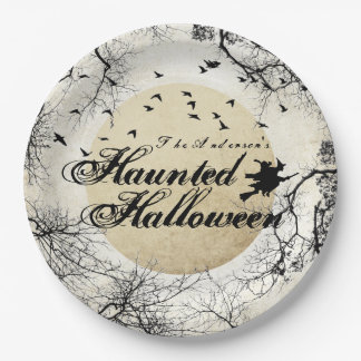 Haunted Halloween Paper Plate