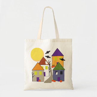 Haunted Halloween Village Trick or Treat Bag