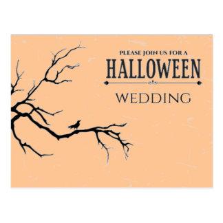 Haunted Halloween Wedding Postcard