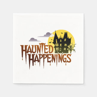 Haunted Happenings Halloween Party Paper Napkins