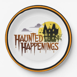 Haunted Happenings Halloween Party Paper Plates 9 Inch Paper Plate