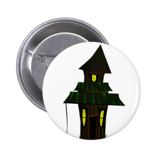 Haunted House 2 Inch Round Button