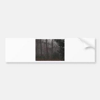 haunted house bumper sticker