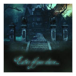 Haunted House Creepy Halloween Invitations