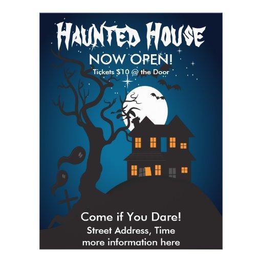 Haunted House Flyer Design