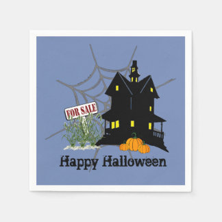 Haunted House For Sale Paper Napkins