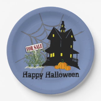 Haunted House For Sale Paper Plate