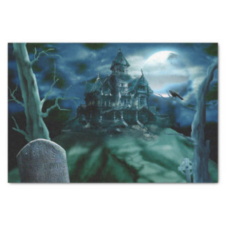 Haunted House Graveyard Tissue Paper