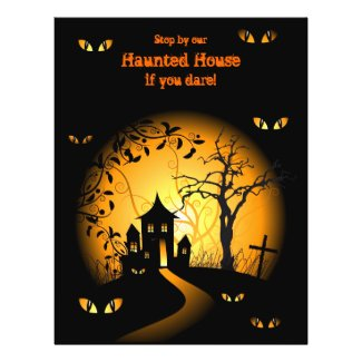 Haunted House Halloween Flyers