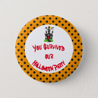 Haunted House Halloween Party 2 Inch Round Button