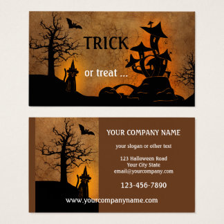 Haunted House Halloween Party Business Card