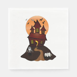 Haunted House Halloween Party Napkins Paper Napkins