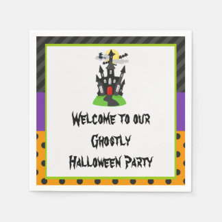 Haunted House Halloween Party Paper Napkins