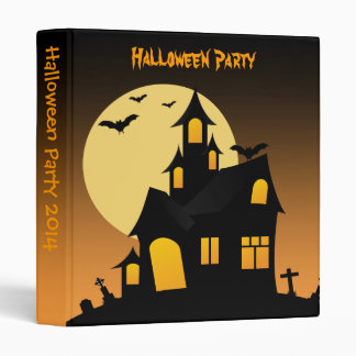Haunted House Halloween Party Photo Album 3 Ring Binder