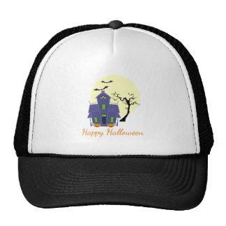 Haunted House Halloween Trucker's Hat / Cap