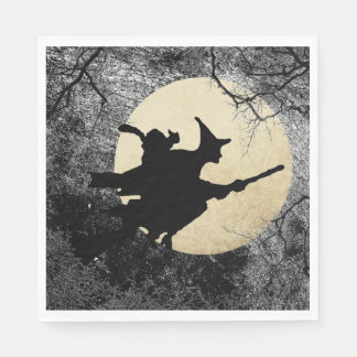 Haunted House Halloween Witch Napkins Paper Napkin