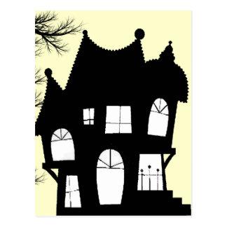haunted house invitation postcard