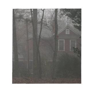 haunted house notepad
