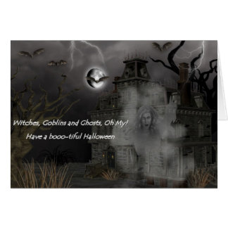 Haunted House Oh my Halloween Card